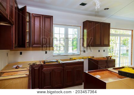 Installing New Induction Hob In Modern Kitchen