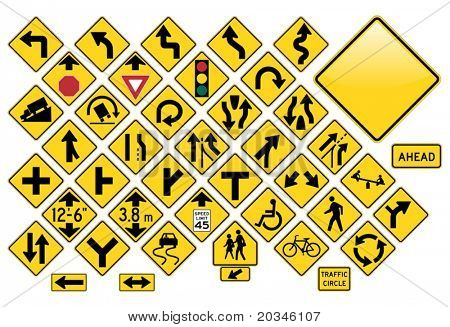 Road Sign Set - Warning
