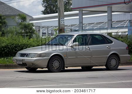 Private Old Car, Saab 900 Compact Luxury Automobile.