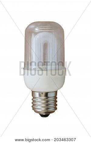 lamps or light bulbs isolated on white background and have clipping paths.