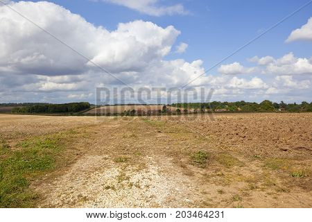 Plowed Soil And Village