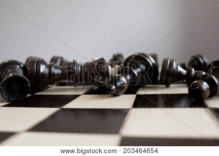 Business Strategic Formation In The Chess Game King Is Checkmated Game Over.
