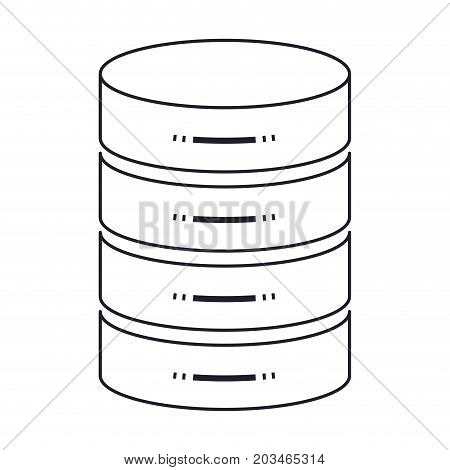 server hosting storage icon in monochrome silhouette vector illustration
