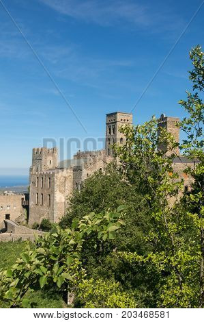 The Romanesque Abbey Of Sant Pere De Rodes. Girona, Catalonia