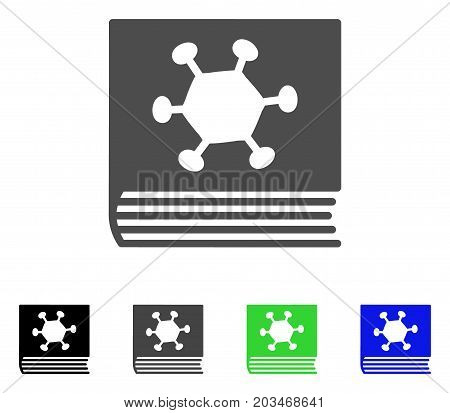 Parasite Encyclopedia icon. Vector illustration style is a flat iconic parasite encyclopedia symbol with black, gray, green, blue color versions. Designed for web and software interfaces.