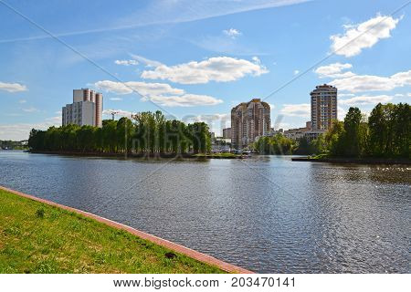 View of the Moscow Canal in Khimki , Russia