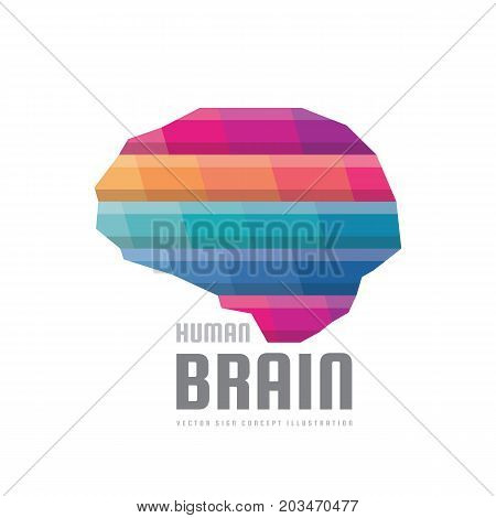 Abstract human brain - vector logo template concept illustration. Creative idea colorful sign. Infographic symbol. Colored design element.
