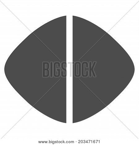 Medical Tablet vector pictograph. Style is flat graphic grey symbol.