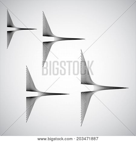 spirographic abstract pattern black lines on gray background