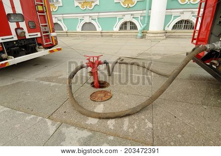 Fire hydrant - a device for taking water from a water supply system for fire fighting.