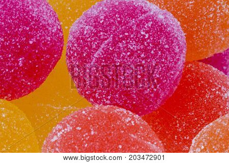 Sweet Background of Marmalade Candy Balls .
