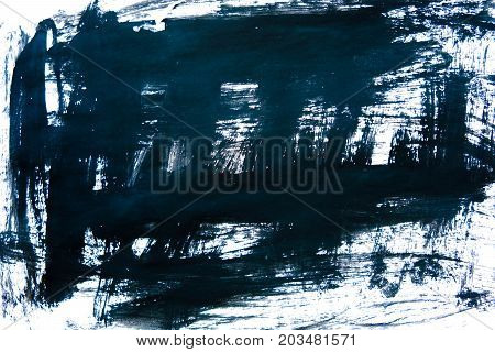 Black ink background painted by brush. Illustration. abstract black brush strokes on white paper as a background. grunge texture.
