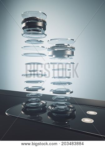 Disassembled Smartphone Camera, Macro Concept