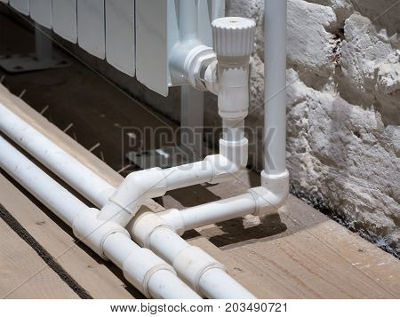 Connecting the bimetal radiator to the heating system