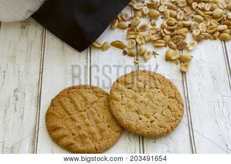 Fresh Baked Peanut Butter Cookies With Chefs Hat