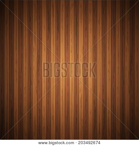 Vector modern browen wooden board background. Wood wall