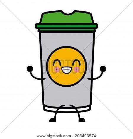Paper Cup Coffee Kawaii Cartoon