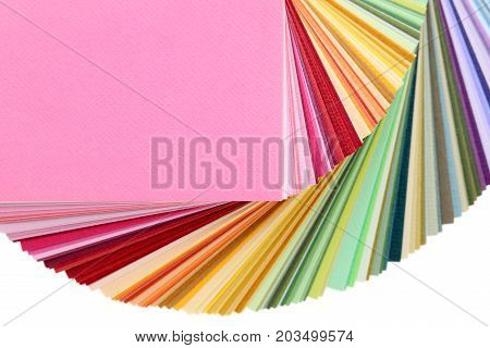 Color swatches book, rainbow sample color catalog