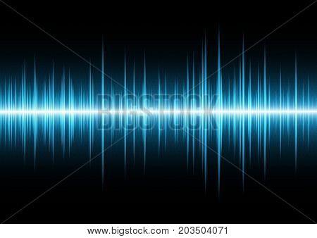 Technology Future Wave Signal Oscillating Light Binary