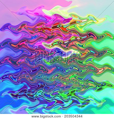 Abstract coloring background of the pastels gradient with disco effects,poolar coordinates,wave and lighting effects