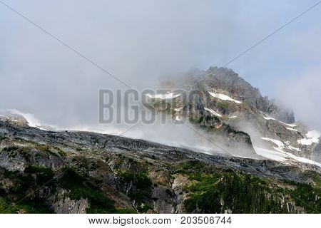The North Cascades National Park is a magical place especially when fog settles around the peaks of the mountains.