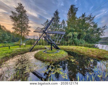 Primitive Wooden Tjasker Windmill