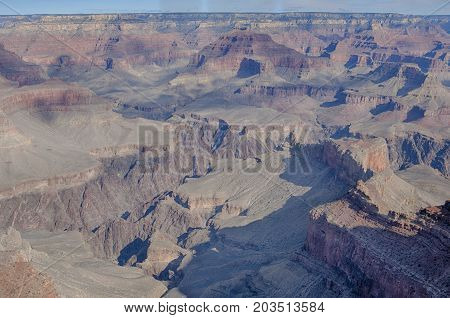 Grand Canyon National Park, in Arizona, is home to much of the immense Grand Canyon, with its layered bands of red rock revealing millions of years of geological history.