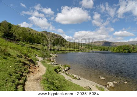 Shore of Rydalwater in the English Lake District
