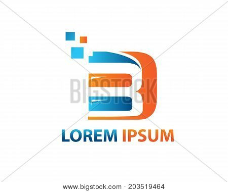 Initials BD logo, illustration design, isolated on white background