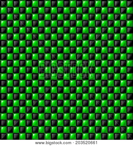 abstract colored background image consisting of lines with green and black glossy blocks