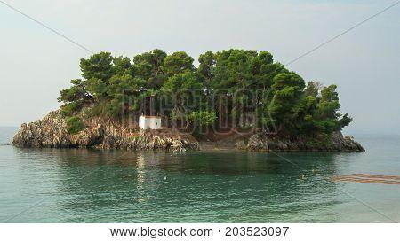 Island of Ionian Sea against
