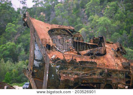Sunk Shipwrecks At Tangalooma Island In Moreton Bay