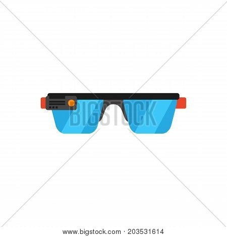 Vector icon of smart glasses gadget. VR glasses, glasses with camera, VR equipment. Virtual reality concept. Can be used for topics like technology, video games, innovation