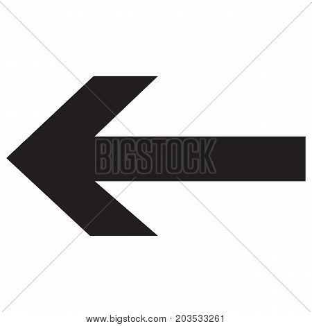 Arrow Left vector icon arrowhead back backwards cursor