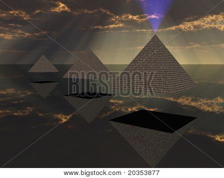 Triad of floating Pyramids
