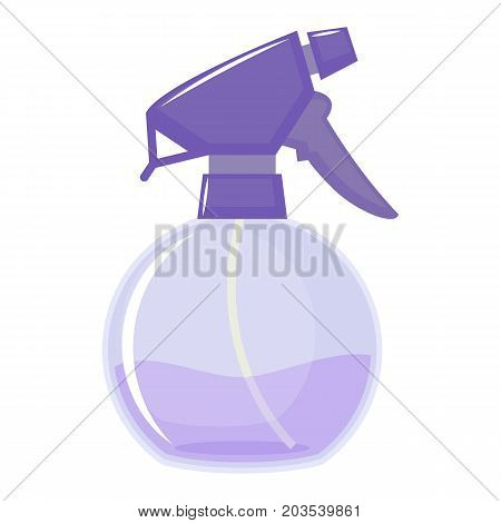 Water sprayer bottle on white background, cartoon illustration. Vector
