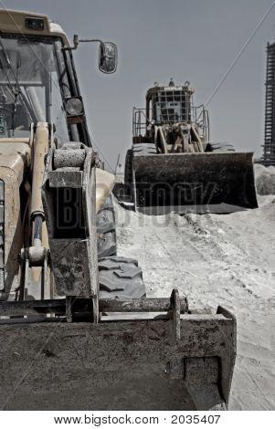 Wheel Excavators At Rest