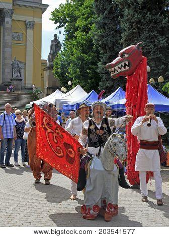 Street Performance In Duration Of Folk Fest In Eger, Hungary