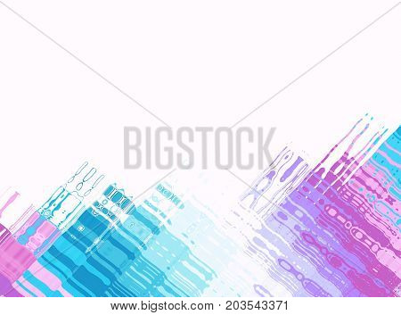Blue pink white modern abstract fractal art. Background illustration with colorful perpendicular structures. Creative graphic template. Professional business style. For designs layouts letterheads