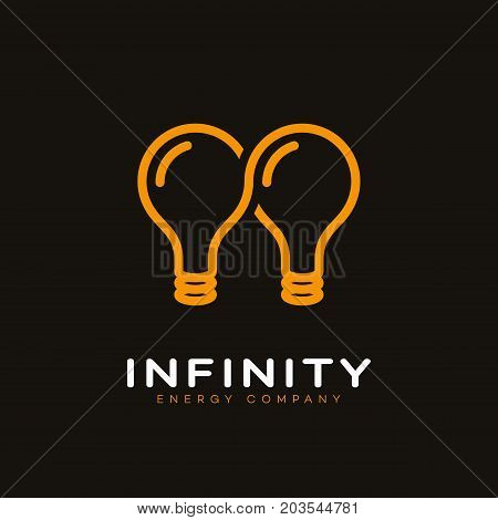Infinite energy logo template design. Vector illustration.