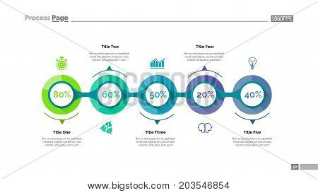 Marketing strategy slide template. Business data. Graph, diagram, design. Creative concept for infographic, report. Can be used for topics like evaluation of data, scheme, strategy