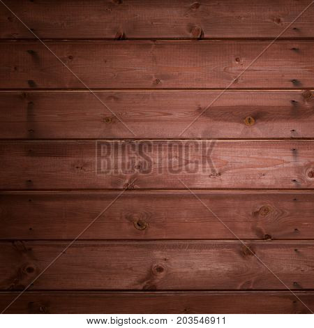 Dark wood texture background. Beautiful Wooden surface with natural pattern. Grunge Square Wallpaper with unpainted wood texture. Vintage timber horizontal wooden boards background With Copy Space