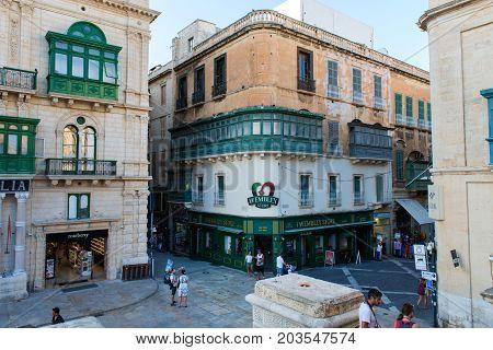 Tourists Visiting Valletta City