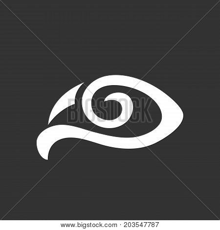 Eye icon isolated on black background. Eye vector logo. Flat design style. Modern vector pictogram for web graphics - stock vector