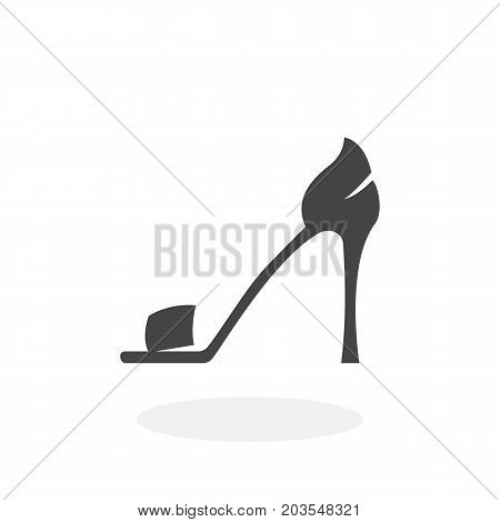 High-heeled shoes icon isolated on white background. High-heeled shoes vector logo. Flat design style. Modern vector pictogram for web graphics - stock vector