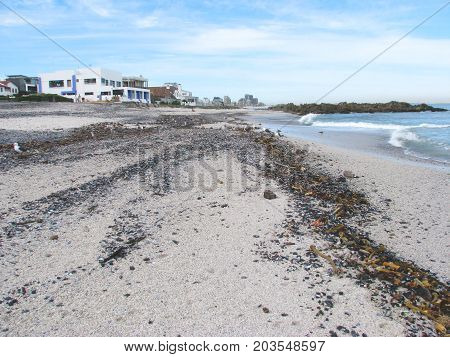A PERSPECTIVE VIEW OF BLOUBERG STRAND, CAPE TOWN, SOUTH AFRICA