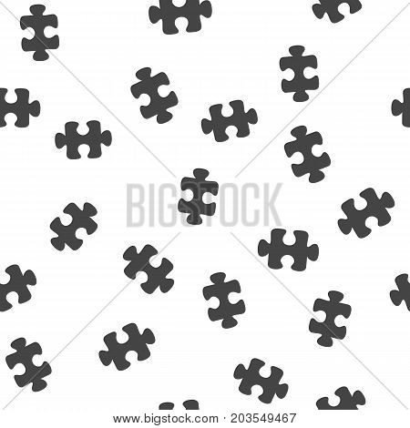 Puzzle seamless pattern. Vector illustration for backgrounds