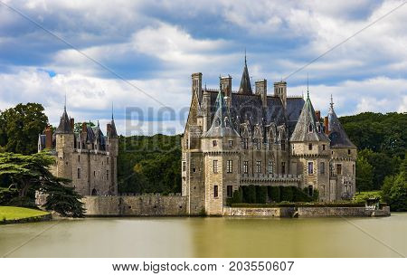French chateau of 15th and 16th Century origins in the Pays de la Loire region