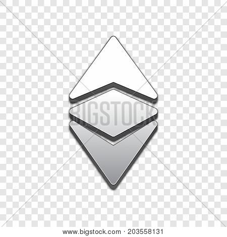 Ethereum classic isolated web vector icon. Ethereum classic trendy 3d style vector icon. Raised symbol illustration. Ethereum classic symbol vector icon for your web site design, internet, business.