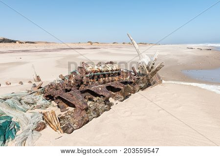 The shipwreck of the Benguela Eagle